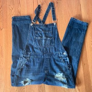 Denim - Vici Dolls distressed overalls
